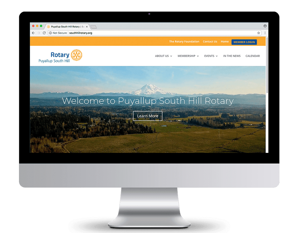 Puyallup South Hill Rotary Website Design